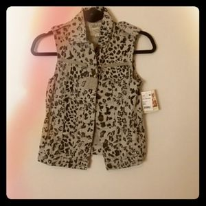 👯Dolled Up Leopard Vest👯